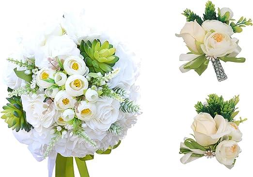 Amazon Com Abbie Home Set Of 5 Wedding Bouquet Brooch Pin Wrist