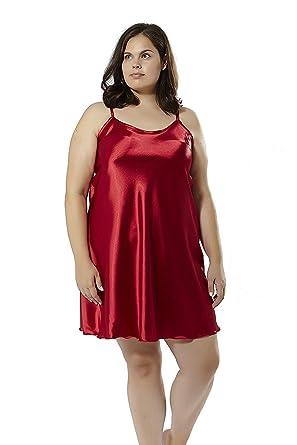 best sneakers 5c217 45102 Mabel big&beauty - Satin-Nachthemd große Größen: Amazon.de ...
