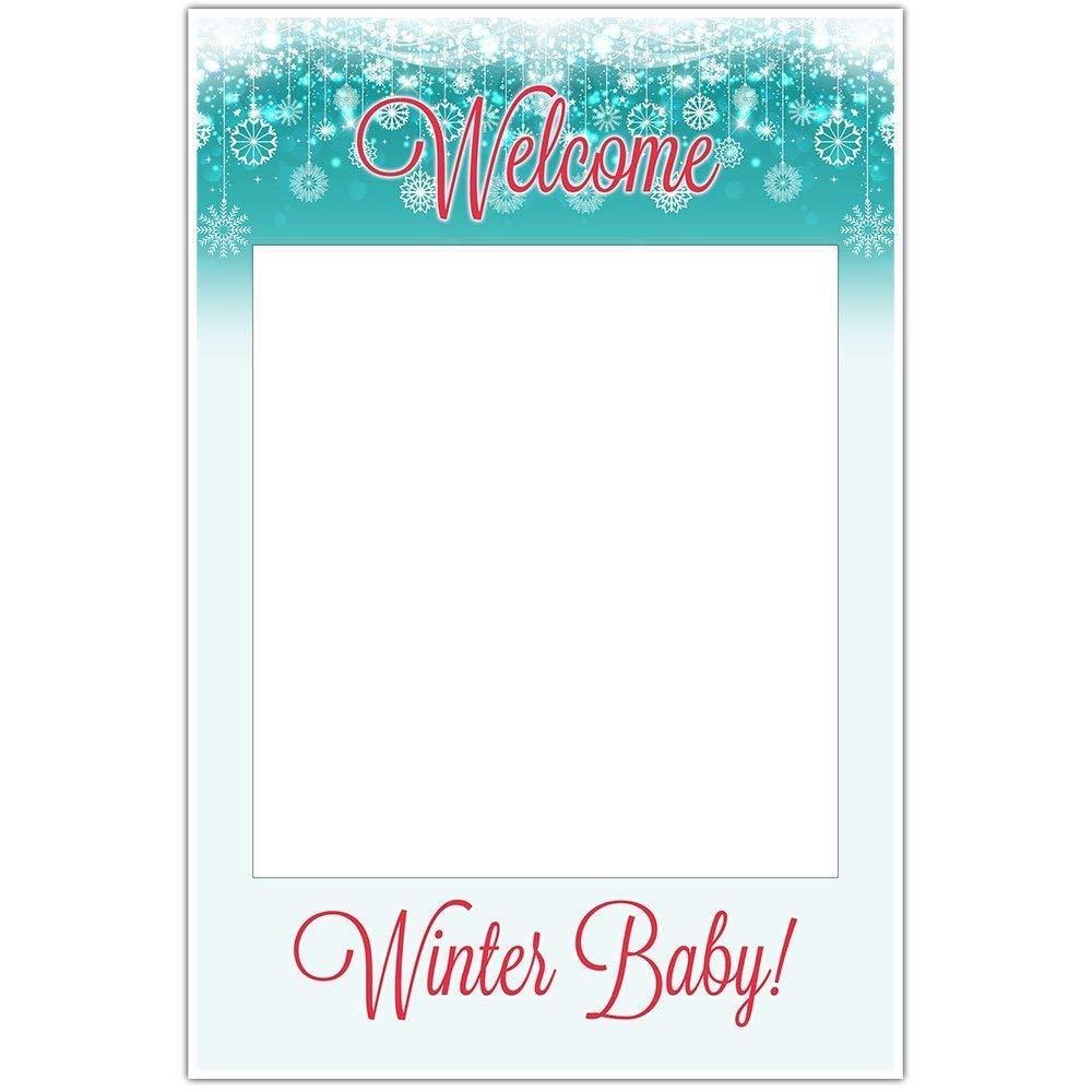 Winter Baby Shower Selfie Frame Poster
