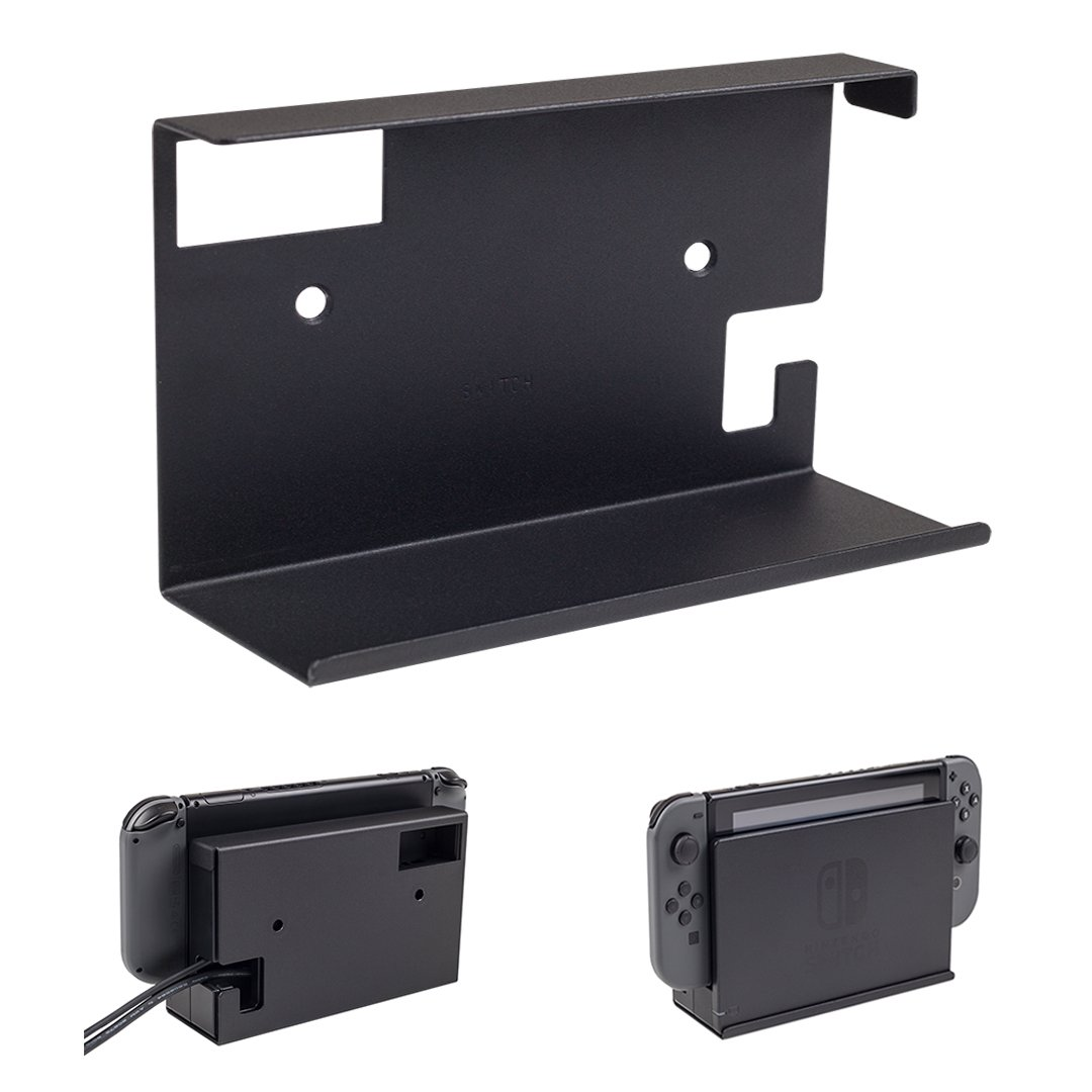 HIDEit Switch Mount | Nintendo Switch Wall Mount (Black) | Made in the USA