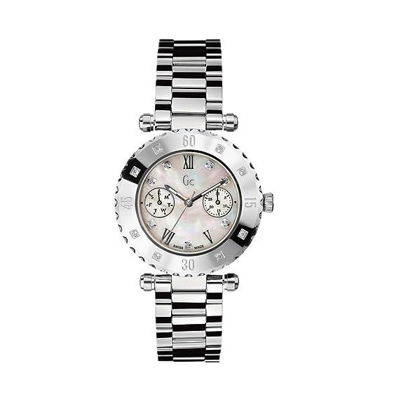 Reloj Guess Collection Gc Diver Chic 8 Diamond X42106l1s Mujer Nácar