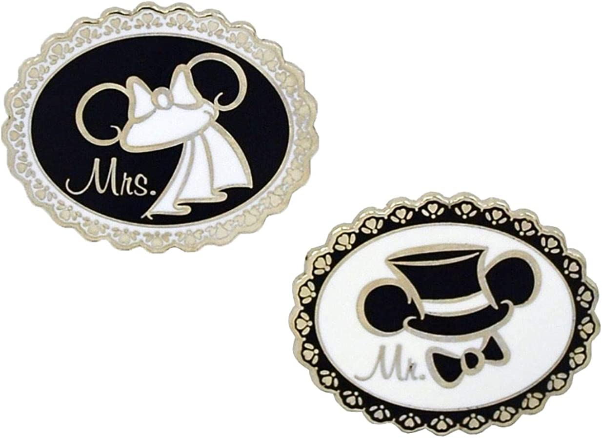 Disney Mr /& Mrs Mickey Mouse Wedding Ear Hats Minnie /& Mickey