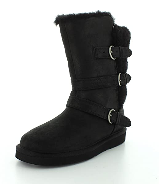 e863bac9bd0 Amazon.com | UGG Australia Womens Becket Black Winter Boot - 5 | Mid ...