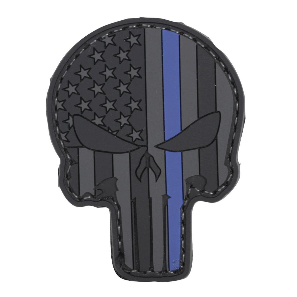 5ive Star Gear LE Thin Blue Line Punisher Skull PVC Morale Patch, 1.75 x 2.25 1.75 x 2.25 Atlanco 6654