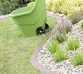 IPAK1 - Empalizada de borde para césped, jardín, bordillo para parterre, 3,8 m: Amazon.es: Bricolaje y herramientas