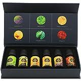 Essential Oils by SUNPIN 100% Pure Therapeutic Grade Fragrant Aroma Oils kit- Top 6 Aromatherapy Oils Gift Set-6 Pack, 10ML(Rose, Lavender, Lemon, Sweet Orange, Peppermint, Tea Tree)