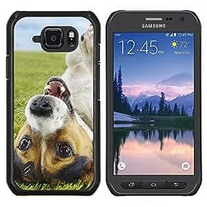 For Samsung Galaxy S6Active Active G890A Case , Divertido lindo del perrito de Jack Russell perro- Diseño Patrón Teléfono Caso Cubierta Case Bumper Duro Protección Case Cover Funda