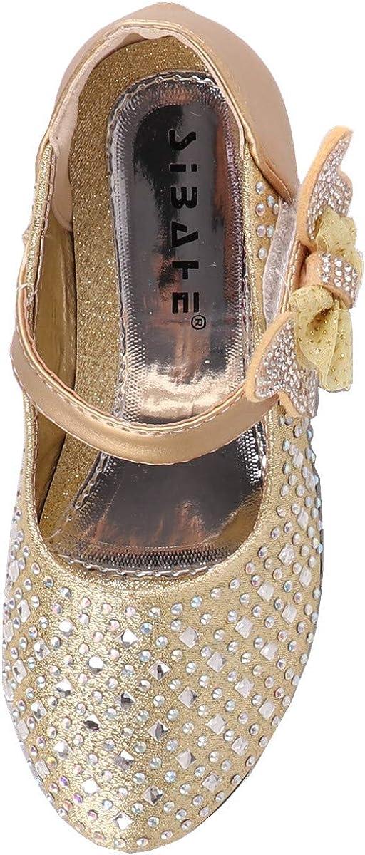 Snyemio Chaussures Princesse Fille Mary Jane Ballerine Enfant pour Ceremonie Mariage F/ête