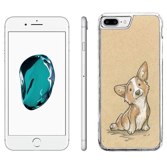 buy popular f3256 aa059 Amazon.com: iPhone 7 Plus Phone Case,iPhone 8 Plus Case Corgi Dog ...