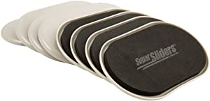 "SuperSliders 4704295N Reusable Furniture Movers For Carpet- Quickly and Easily Move Any Item, 3-1/2"" x 6"" Linen (8 Pack)"