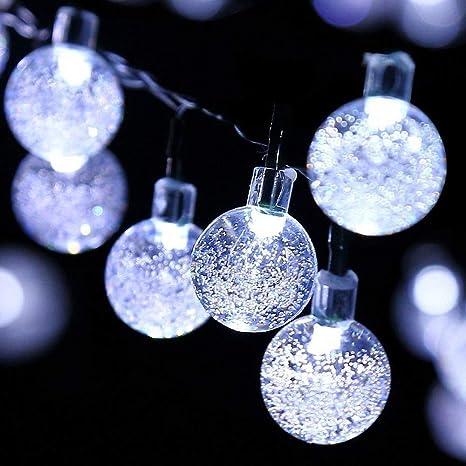LED Solar String Lights Fairy Garland Christmas Outdoor Waterproof Garden Lamp