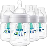 Set de 4 biberones  Philips Avent Anti-colic con sistema AirFree  4 Oz - SCF400/44