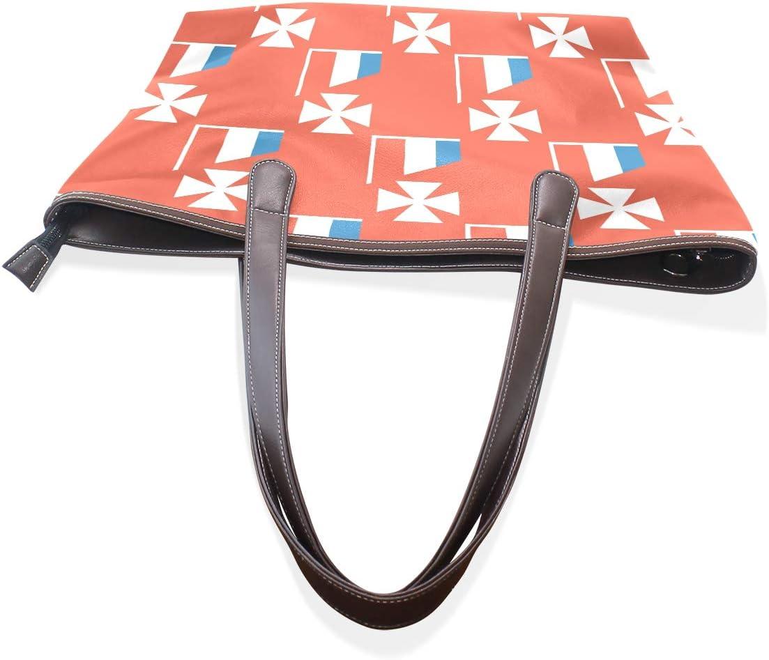 Wallis And Futuna Islands Flag Womens Fashion Large Tote Ladies Handbag Shoulder Bag