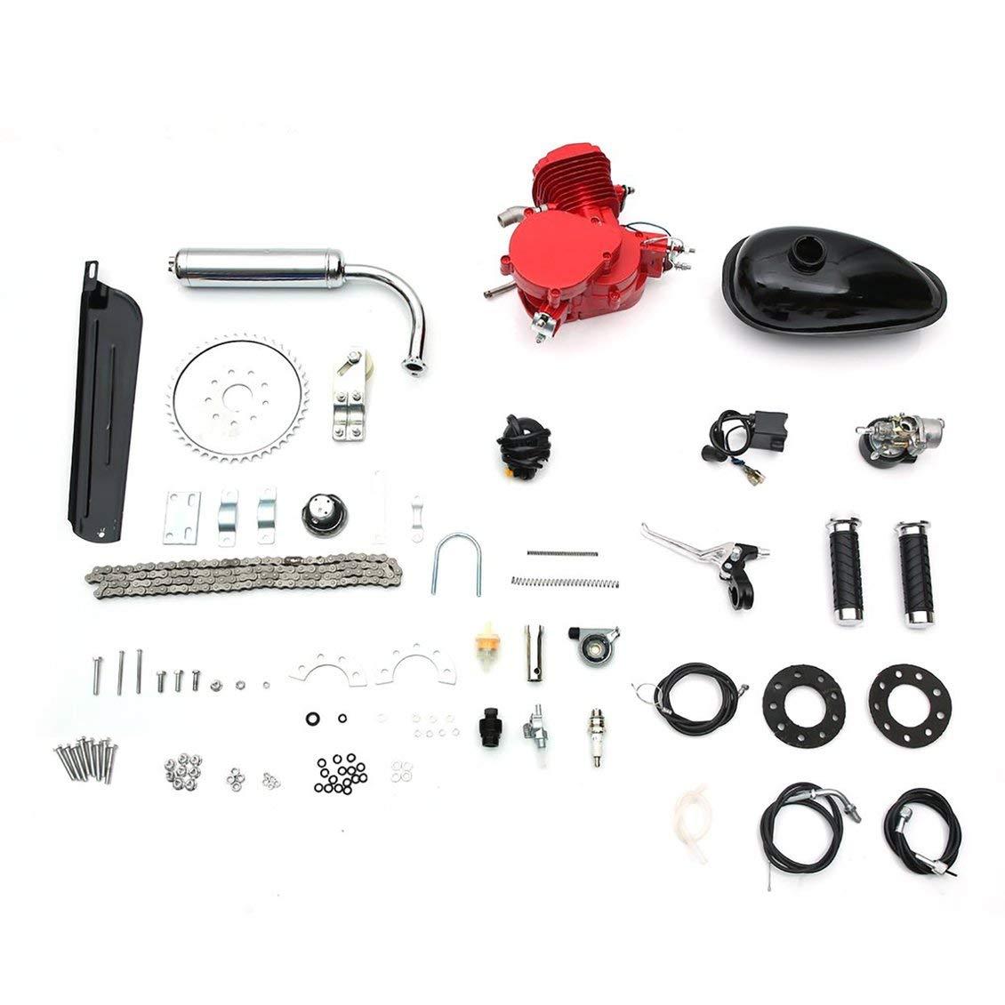 Amazon com : PGIGE 80cc 2 Stroke Motorized Bicycle Set