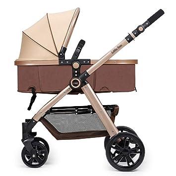 ERRU- Cochecito de bebé plegable / puede sentarse Mentira de dos vías que llevan levemente el invierno ...