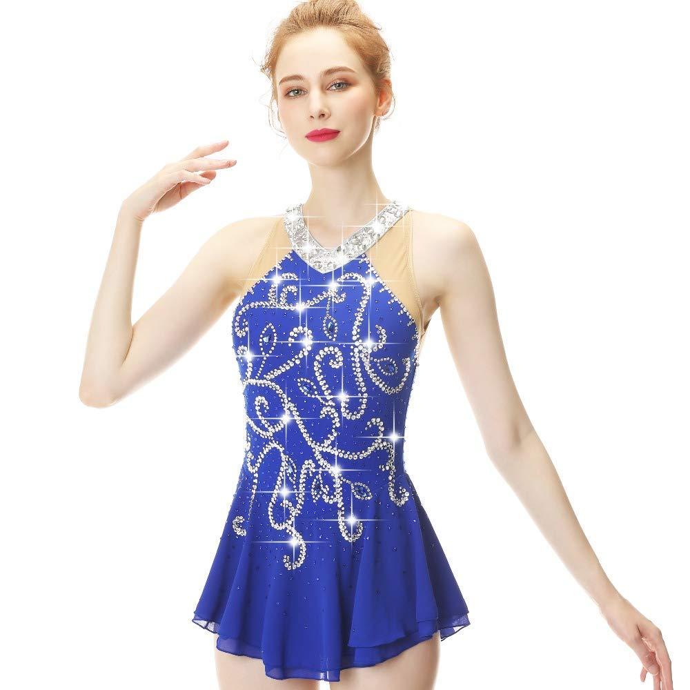 YUEZHIMEI Eiskunstlaufkleid für Mädchen Frauen Eislaufen Performance Performance Performance Kostüm Professionell Stretch Breathable B07P2KB5G9 Bekleidung Jahresendverkauf 8aa62b