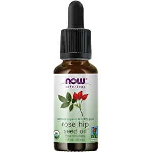 Now Foods Solutions Organic Oil, For Facial Care, Expeller Pressed, Rose Hip Seed 1 Fl Oz