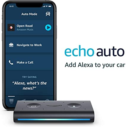 Amazon Com Echo Auto Hands Free Alexa In Your Car With Your Phone Amazon Devices