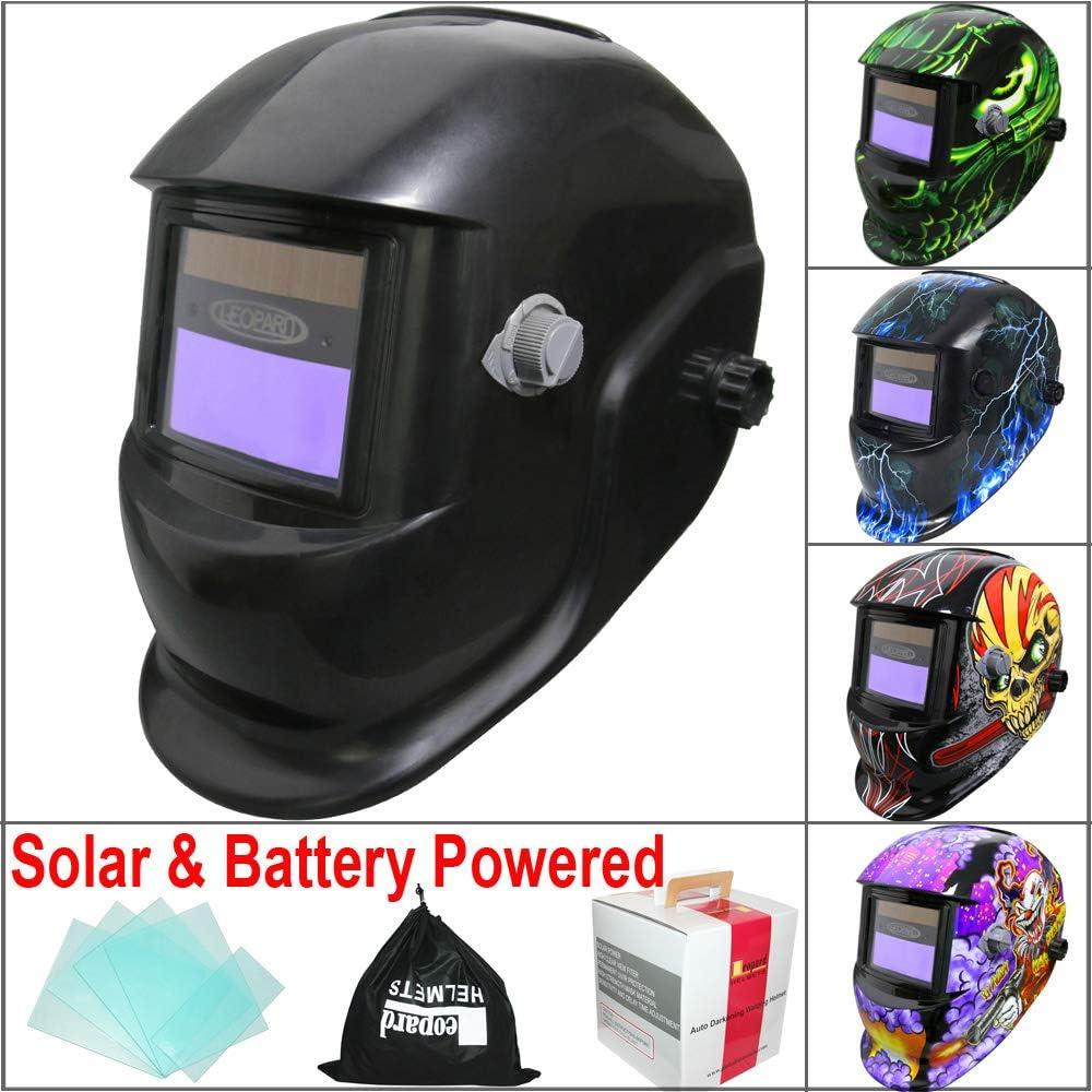 Electric Welding Mask Sku Solar Auto Darkening Adjustable Range 4//9-13 MIG MMA