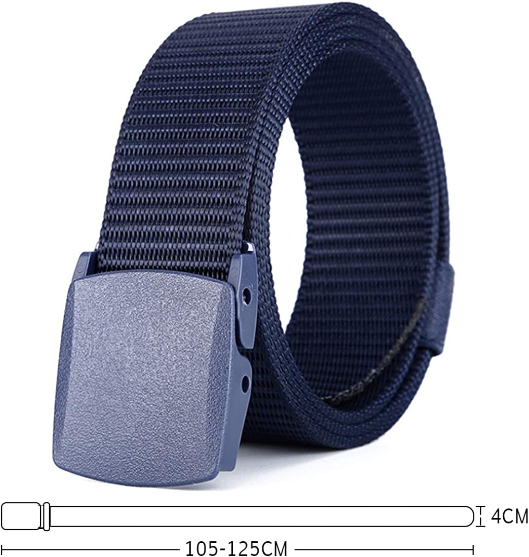 Aiweijia Mens casual sports outdoor lightweight canvas belt buckle tactical