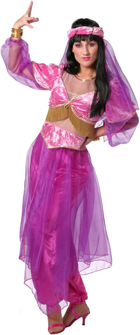 Stekarneval - Disfraz de princesa árabe para mujer, talla UK 12-14 ...