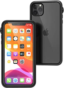 Catalyst - Case for iPhone 11 Pro Max Case with Clear Back, Heavy Duty 10ft Drop Proof, Truss Cushioning System, Rotating Mute Switch Toggle, Compatible with Wireless Charging, Lanyard - Black