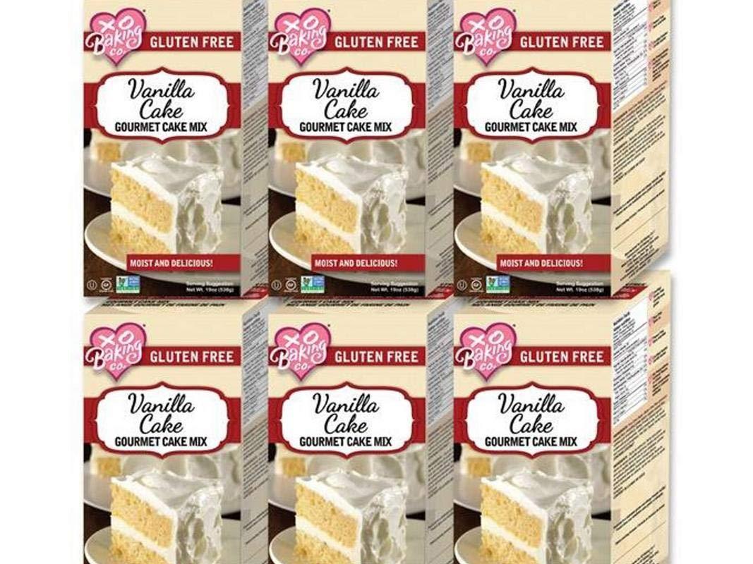 XO Baking Gourmet Vanilla Cake Mix (Case of 6) by XO Baking Co.