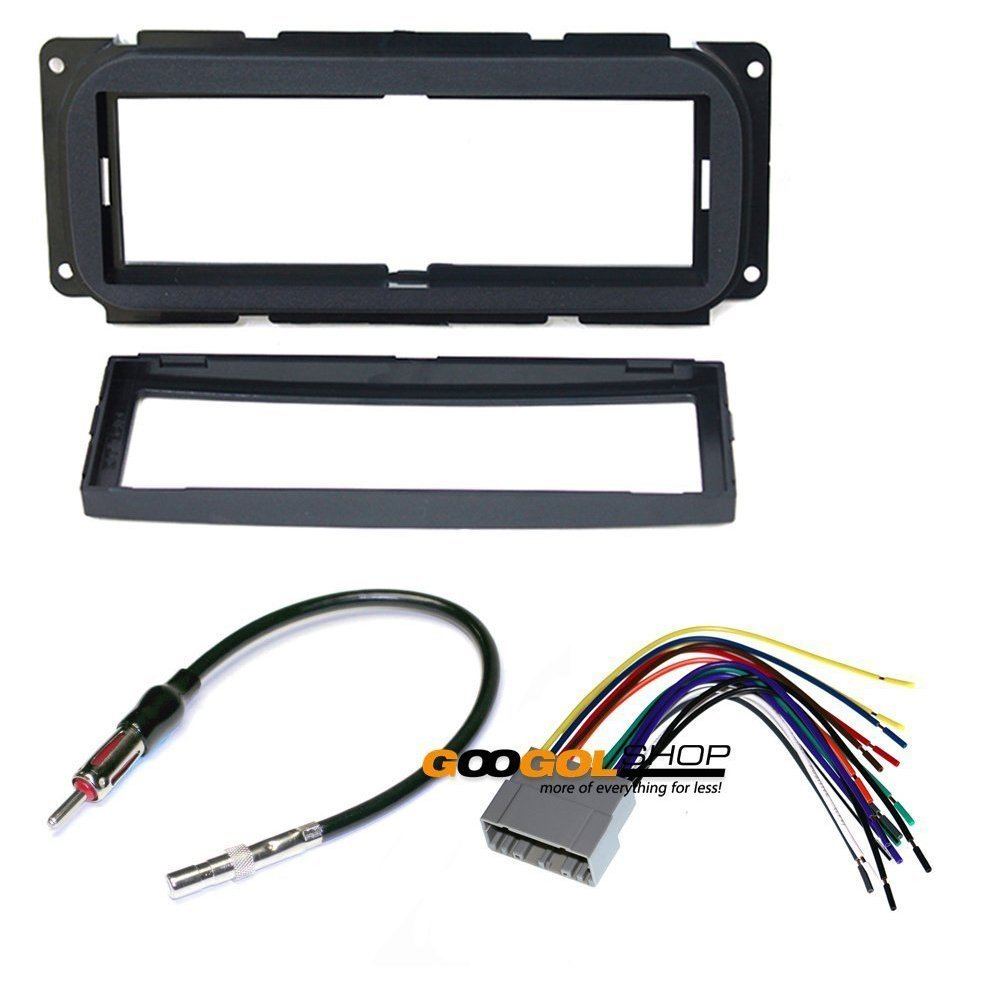 Chrysler 2002 2007 Town Country Car Stereo Dash Install Mounting Kit Wire Harness Iso Wiring Adapter Electronics
