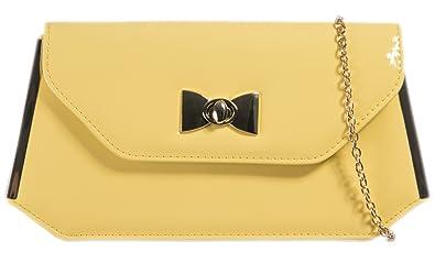 e11f8dfe41 Girly HandBags Womens Elegant Patent Glossy Clutch Bag Turn Twist Bow Frame  Vintage Evening Bag -