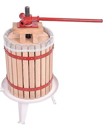 FROADP 18L Prensador y Filtro de Jugo Exprimidor de Madera Manual Prensas para La Producción de