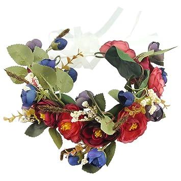 Bridesmaid Boho Flower Bird Floral Headband Wedding Hair Band Beach Garland