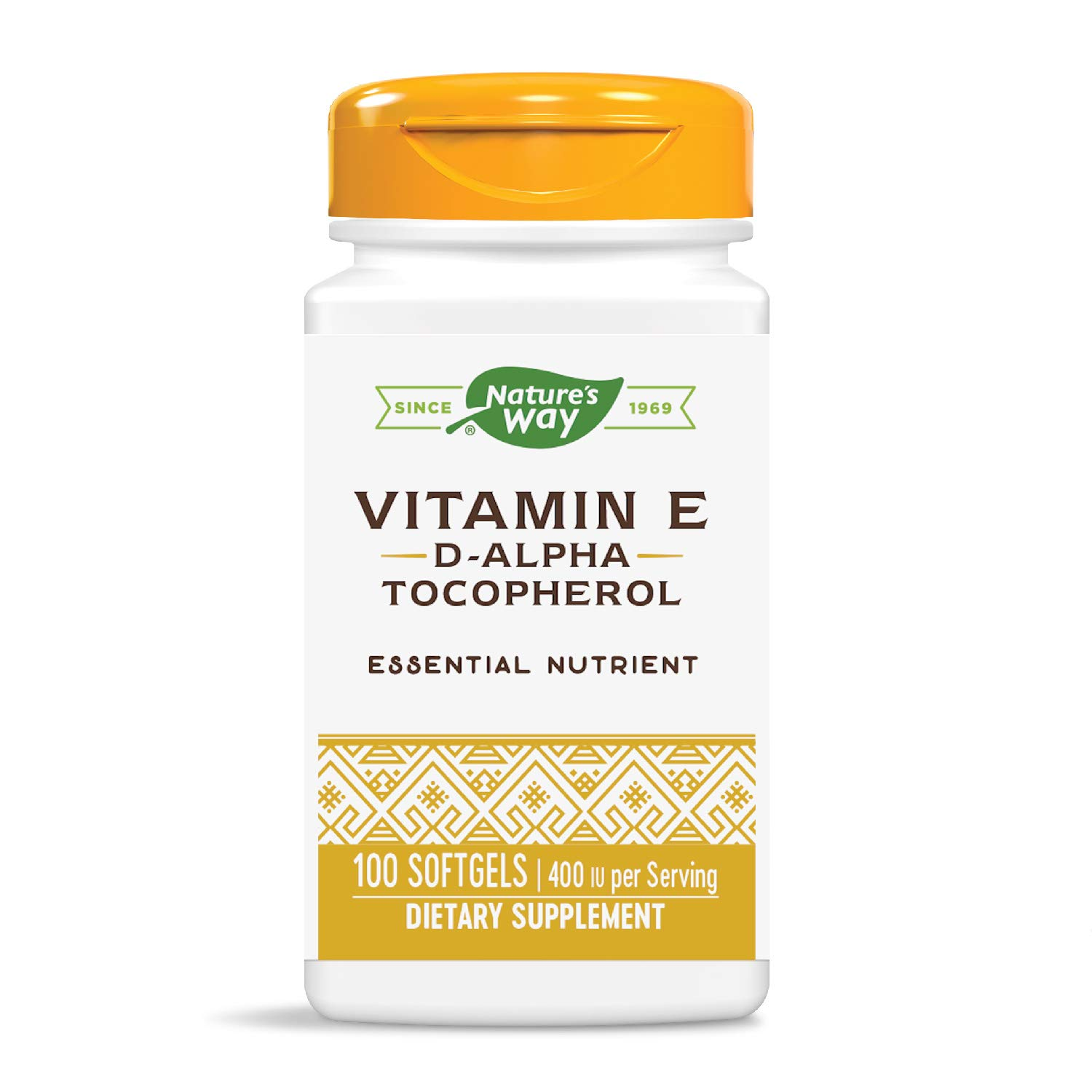 Nature's Way Vitamin E 400 IU, D-Alpha Tocopherol, Powerful Antioxidant, Helps Protect Against Free Radicals, 100 Softgels