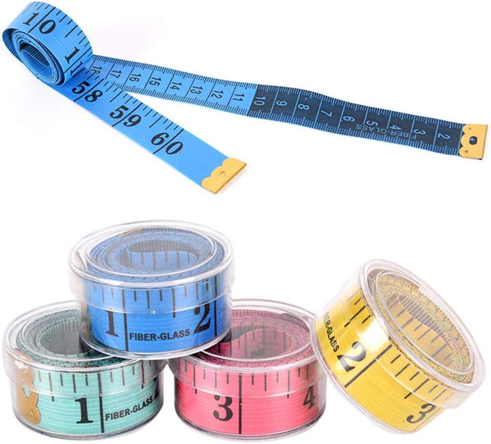 VAILANG 4Pieces 150cm 60Ruban /à mesurer Souple Corps R/ègle de Mesure sur Mesure Couture Ruban Plat