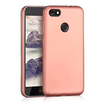 kwmobile Funda para Huawei Y6 Pro (2017) / Enjoy 7 - Carcasa para móvil en [TPU Silicona] - Protector [Trasero] en [Oro Rosa Metalizado]