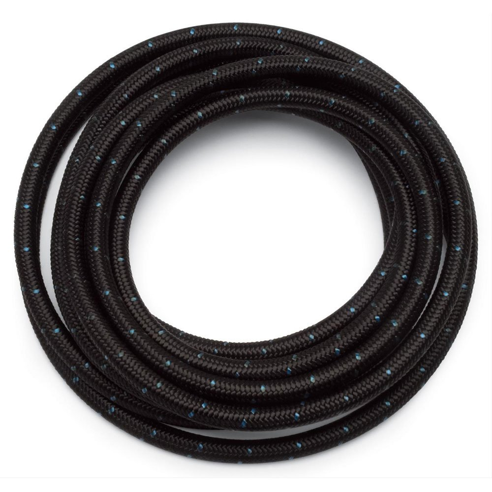 SUNROAD 6AN 10 Ft Universal Premium Braided Stainless Steel Fuel Line Filler Feed Hose Ends Kit, Black SUNRODA