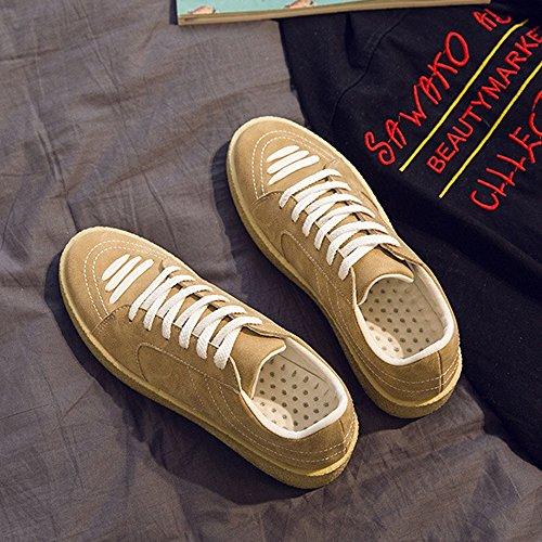 canvas Resistente Bianca in casual da EU Sunny piatte in Color Top Beige Sneakers suola PU Low Dimensione all'abrasione 41 amp;Baby sportive dalla Mocassini uomo resistente pelle Scarpe HwHBqZ