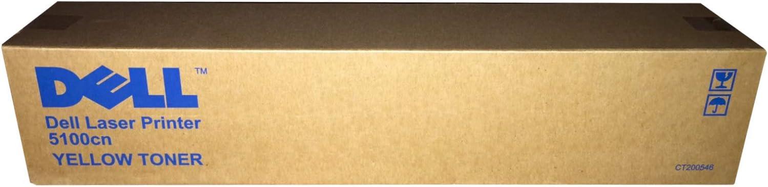 Dell 5100CN Yellow Toner (8000 Yield) (Orginal OEM# 310-5808) - Geniune Orginal OEM toner