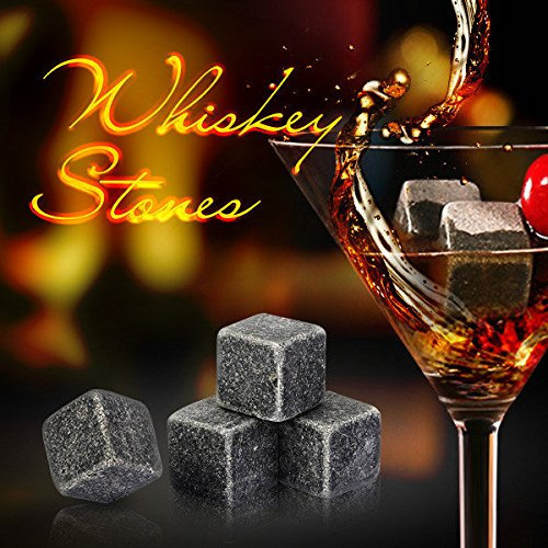Hiquty 9Pcs Whiskey Stones Rocks Ice Cubes Velvet Bag Whisky Rocks Beer Ice - Sunglasses Review Ie