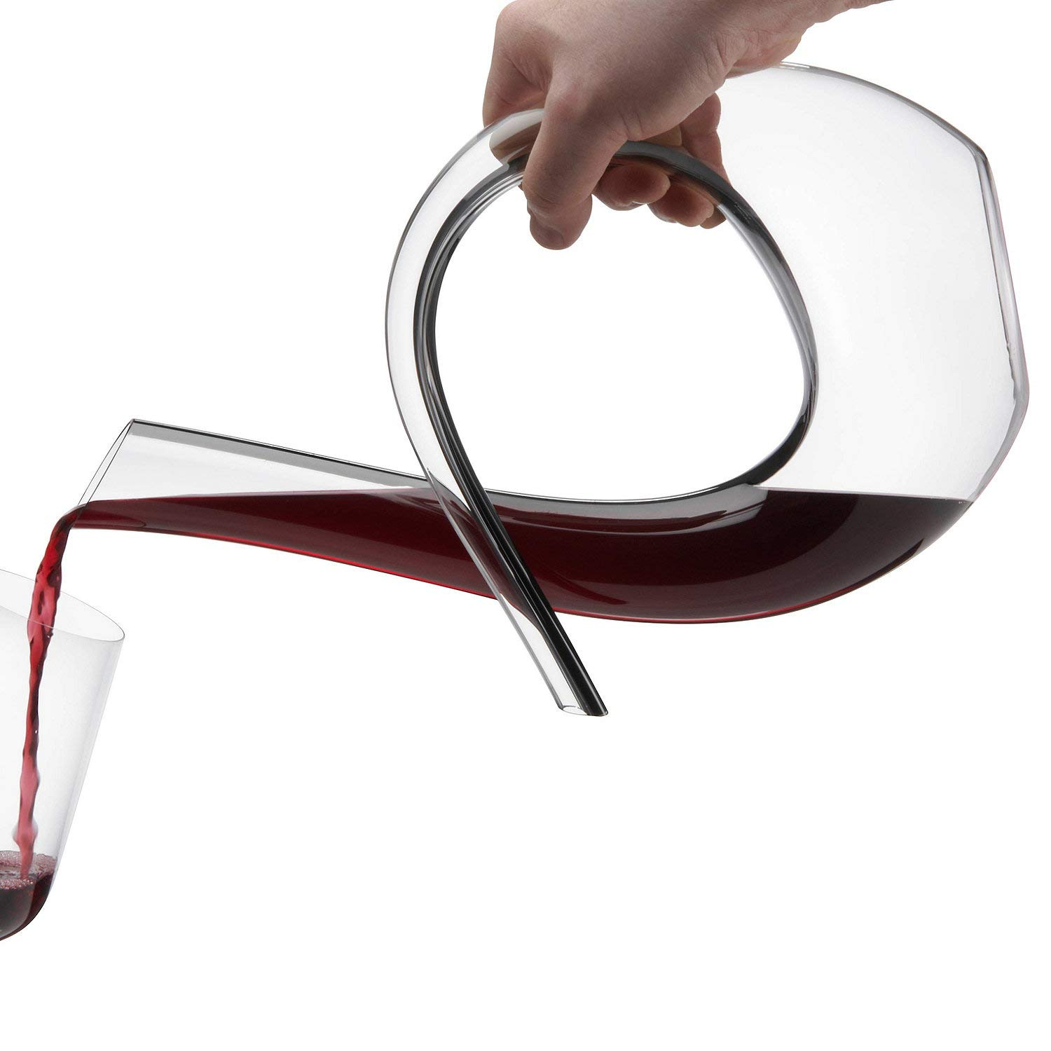 Wine Enthusiast Art Series Silhouette Black Stripe Wine Decanter by Wine Enthusiast (Image #2)