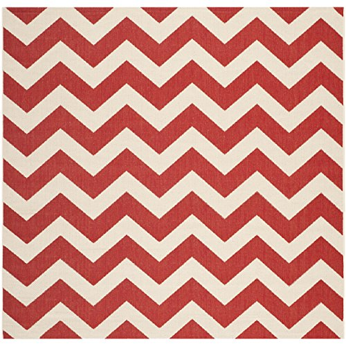 Safavieh Courtyard Collection CY6244-248 Red Indoor/ Outdoor Square Area Rug (4' ()