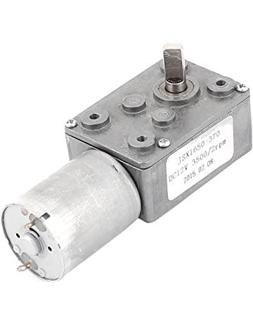 sourcing map DC 12V 2rpm 6 mm del eje de la turbina de alto par motor