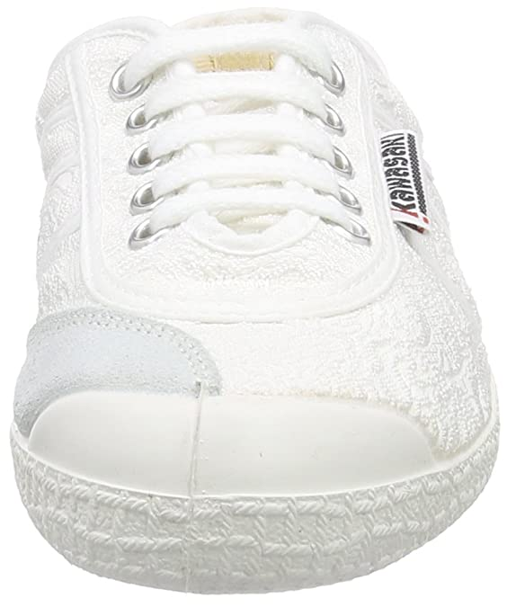 Kawasaki Basic Fantasy, Sneakers Basses Mixte Adulte - Blanc - Weiß (White Vanessa), Taille 37 EU