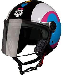 BHR 93781 Demi-Jet Super Love 710 Casco de Moto, Talla 53/54