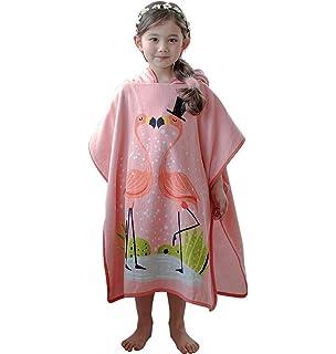 37862a31ff Amazon.com: Tirrinia Little Mermaid Hooded Poncho Kids Beach Bath ...
