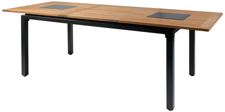 Hartman 62417210 Concept Tisch 210/160 x 90 cm, alu-teak Extension