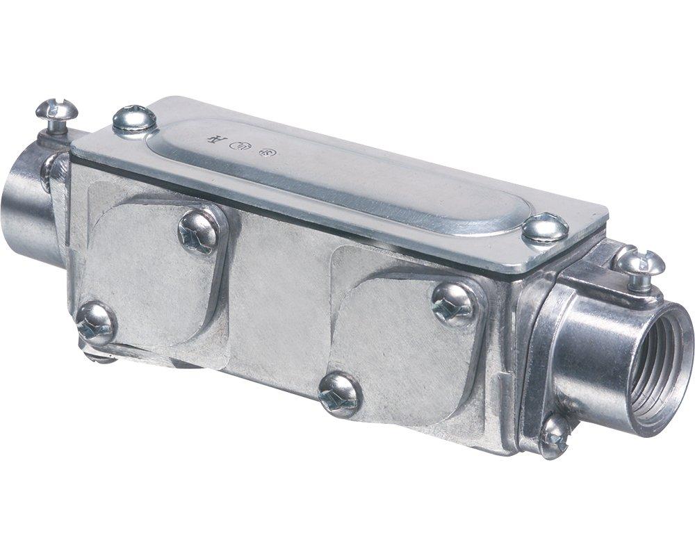 Pack of 1 Metallic 3-1//2 Arlington Industries Arlington Industries 938-1 Universal AnyBODY Conduit Body Converts to LB T LL LR or C 3-1//2 Inc