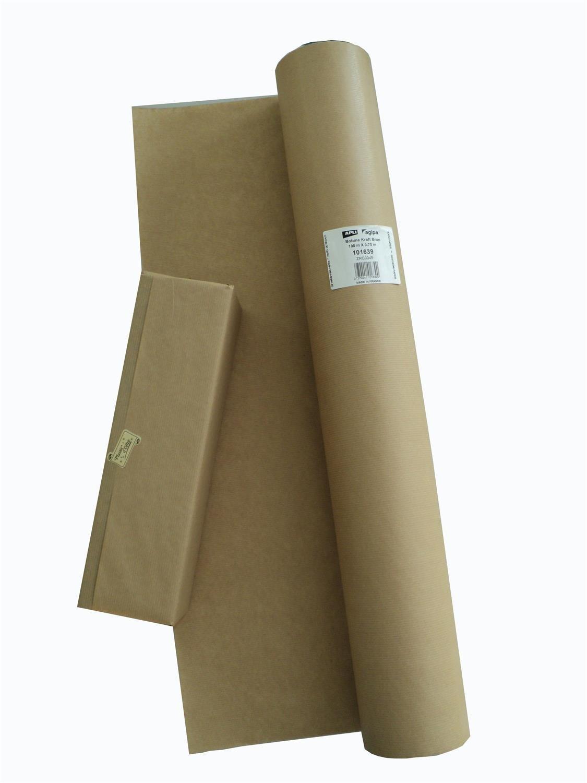 APLI 101639 Bobine de Papier Geschenk, braun
