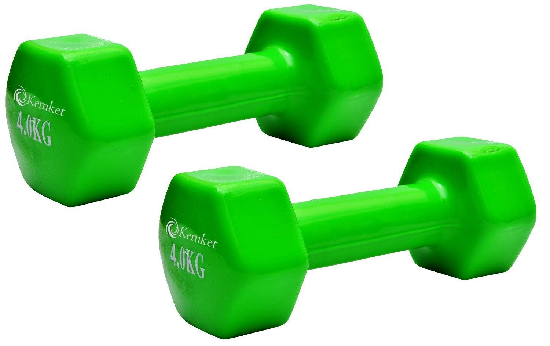 Mancuernas con revestimiento de vinilo (2 unidades) - 0.5 Kg a 6 kg Gimnasio En Casa Fitness ejercicio Biceps entrenamiento con peso 0,5 kg, 1 kg, 2 kg, ...