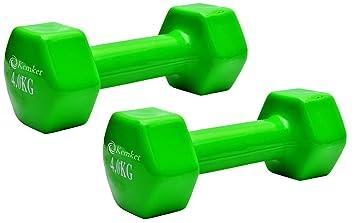 Mancuernas con revestimiento de vinilo (2 unidades) – 0.5 Kg a 6 kg Gimnasio