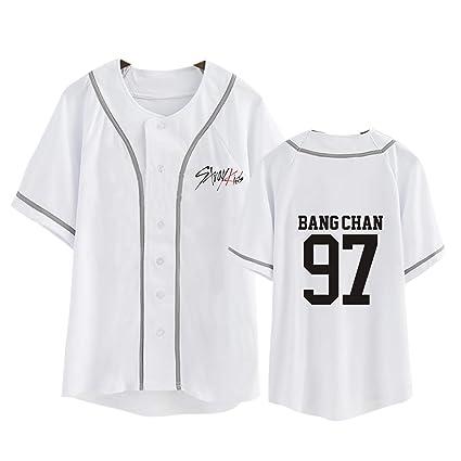 8031703c8 Amazon.com : JUNG KOOK Kpop Stray Kids Support Shirt Woojin Felix Hyunjin  Jisung T-Shirt Tee : Sports & Outdoors